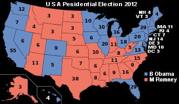 2012 USA election map