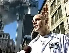 Johanneman being interviewed after towers hit