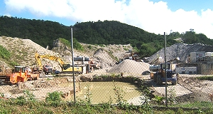 Quarry at Layou