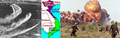 chemical warfare in Vietnam - agent orange + napalm