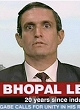 Andy Bichlgaum as a Dow Chemichal representative live on BBC News promising compensation to the victims of the 1984 Bhopal disaster